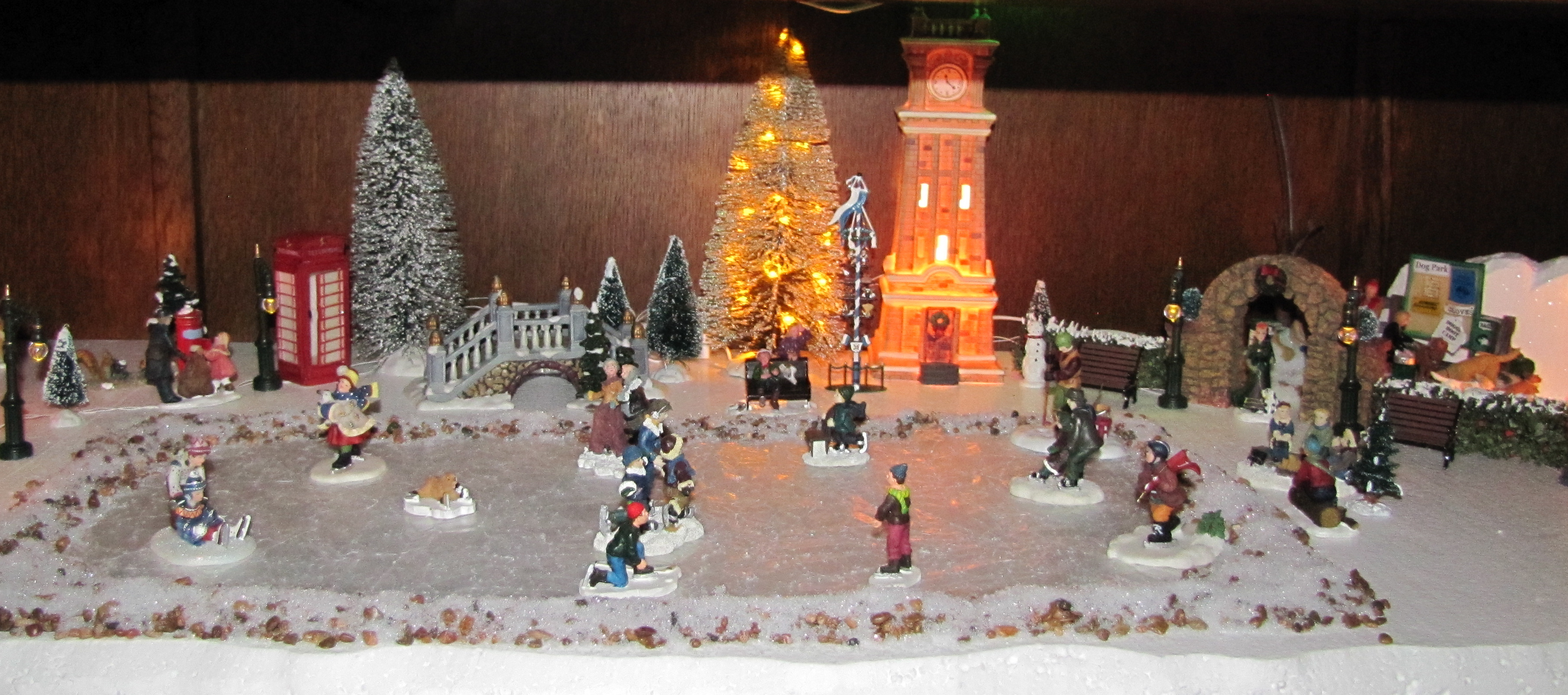 town centre ice rink and dog park - Christmas Village Decorations